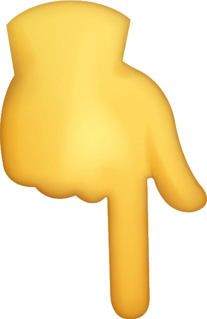 Download Down Index Emoji [Download iPhone Emojis] Icon